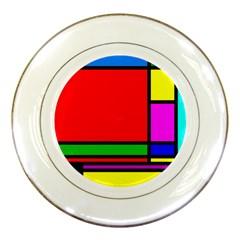 Mondrian Porcelain Display Plate