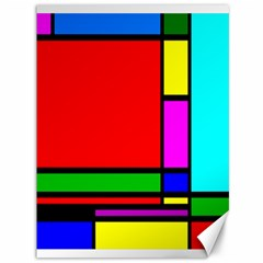 Mondrian Canvas 36  X 48  (unframed)