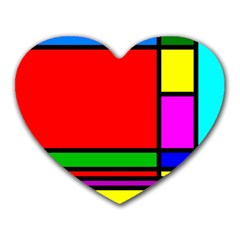 Mondrian Mouse Pad (heart)