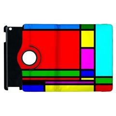 Mondrian Apple iPad 3/4 Flip 360 Case