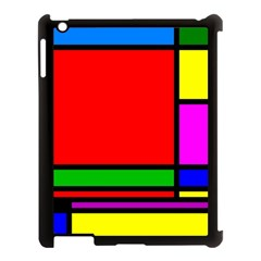 Mondrian Apple iPad 3/4 Case (Black)