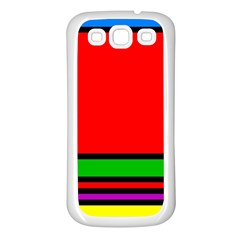 Mondrian Samsung Galaxy S3 Back Case (White)