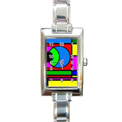 Mondrian Rectangular Italian Charm Watch