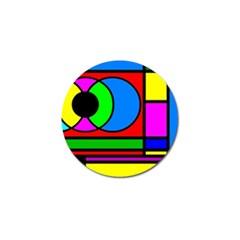 Mondrian Golf Ball Marker 10 Pack