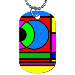 Mondrian Dog Tag (Two-sided)