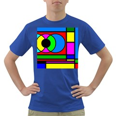 Mondrian Men s T-shirt (Colored)