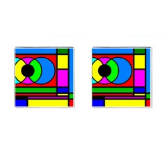 Mondrian Cufflinks (Square)