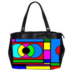 Mondrian Oversize Office Handbag (two Sides)