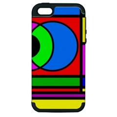 Mondrian Apple Iphone 5 Hardshell Case (pc+silicone)