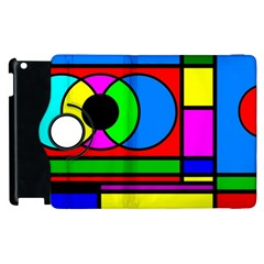 Mondrian Apple Ipad 2 Flip 360 Case