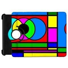 Mondrian Kindle Fire HD 7  (1st Gen) Flip 360 Case