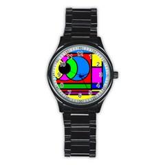 Mondrian Sport Metal Watch (black)