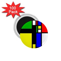 Abstrakt 1.75  Button Magnet (100 pack)
