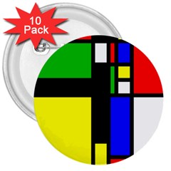 Abstrakt 3  Button (10 pack)