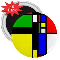 Abstrakt 3  Button Magnet (10 pack)