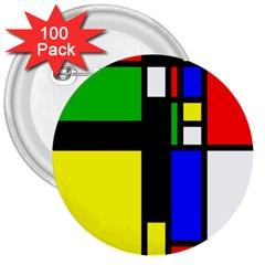 Abstrakt 3  Button (100 pack)