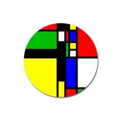 Abstrakt Magnet 3  (Round)