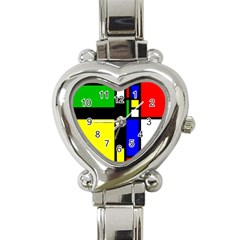 Abstrakt Heart Italian Charm Watch