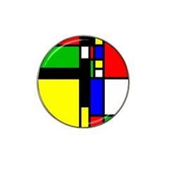 Abstrakt Golf Ball Marker (for Hat Clip)