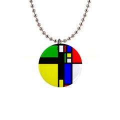 Abstrakt Button Necklace