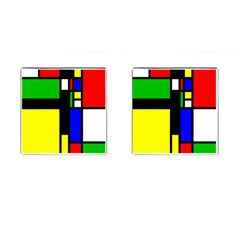 Abstrakt Cufflinks (square)