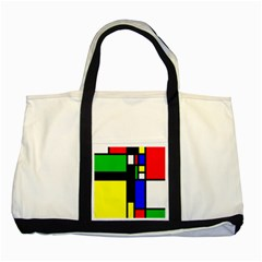 Abstrakt Two Toned Tote Bag
