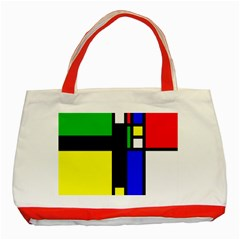 Abstrakt Classic Tote Bag (Red)