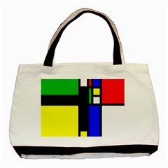 Abstrakt Twin-sided Black Tote Bag