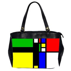 Abstrakt Oversize Office Handbag (two Sides)