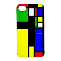 Abstrakt Apple Iphone 4/4s Hardshell Case With Stand