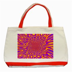Psycedelic Warp Classic Tote Bag (Red)