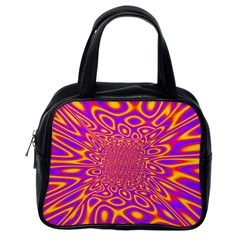 Psycedelic Warp Classic Handbag (one Side)