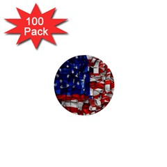 American Flag Blocks 1  Mini Button (100 Pack)