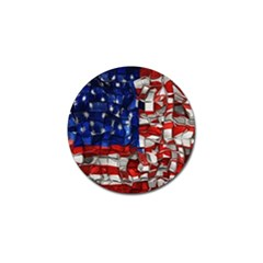American Flag Blocks Golf Ball Marker 10 Pack