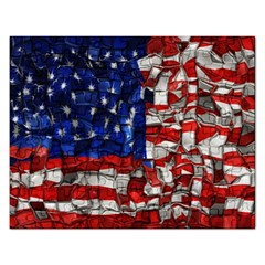 American Flag Blocks Jigsaw Puzzle (rectangle)