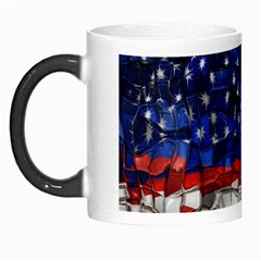American Flag Blocks Morph Mug