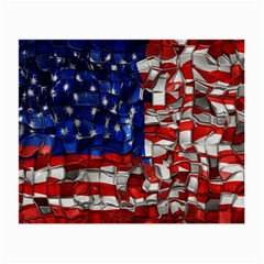American Flag Blocks Glasses Cloth (Small, Two Sided)