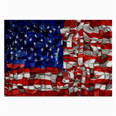 American Flag Blocks Glasses Cloth (large, Two Sided)