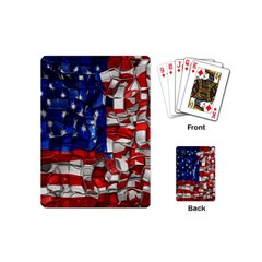 American Flag Blocks Playing Cards (Mini)