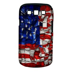 American Flag Blocks Samsung Galaxy S III Classic Hardshell Case (PC+Silicone)