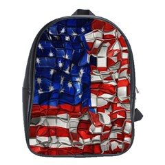 American Flag Blocks School Bag (xl)
