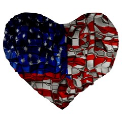 American Flag Blocks 19  Premium Heart Shape Cushion