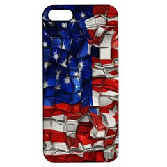 American Flag Blocks Apple Iphone 5 Hardshell Case With Stand