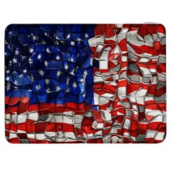 American Flag Blocks Samsung Galaxy Tab 7  P1000 Flip Case