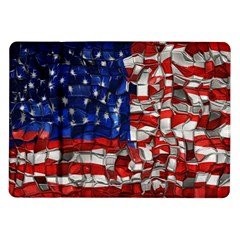 American Flag Blocks Samsung Galaxy Tab 10.1  P7500 Flip Case