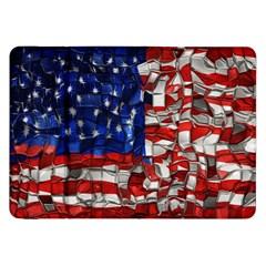 American Flag Blocks Samsung Galaxy Tab 8.9  P7300 Flip Case