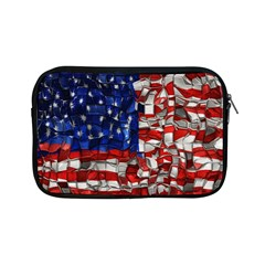American Flag Blocks Apple iPad Mini Zippered Sleeve