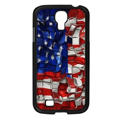 American Flag Blocks Samsung Galaxy S4 I9500/ I9505 Case (Black)
