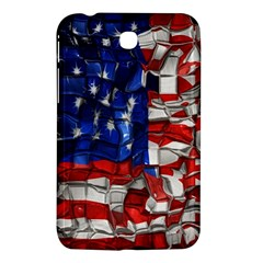 American Flag Blocks Samsung Galaxy Tab 3 (7 ) P3200 Hardshell Case
