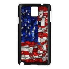 American Flag Blocks Samsung Galaxy Note 3 N9005 Case (black)